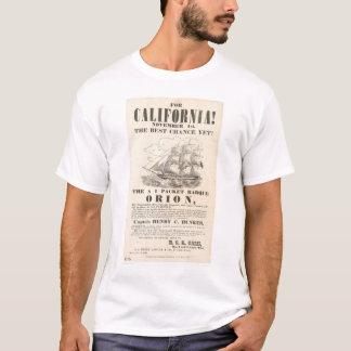 """¡Para California! … anuncio de """"Orión"""" (1281A) Playera"""