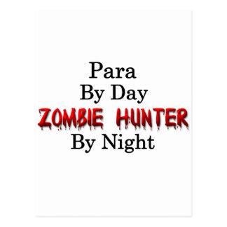 Para/cazador del zombi tarjetas postales