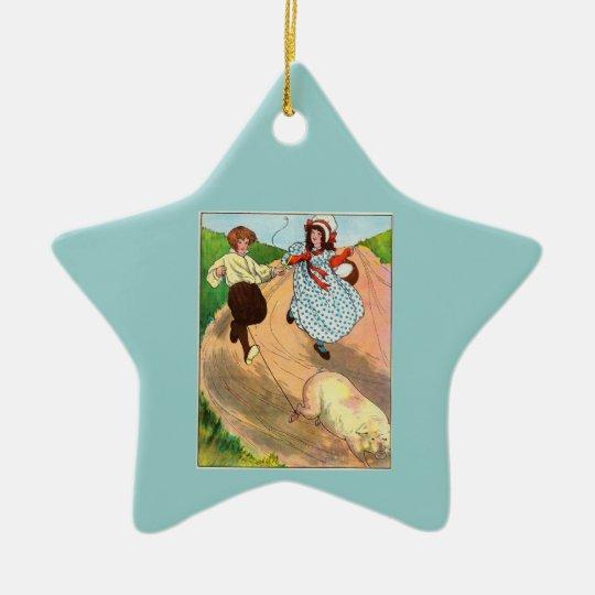 Para comercializar, comercializar, comprar un adorno navideño de cerámica en forma de estrella