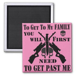 Para conseguir a mi familia que usted primero imán cuadrado