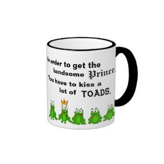 Para conseguir al príncipe hermoso taza de café