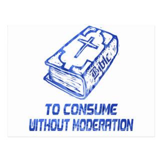 Para consumir sin el modération Bleu Tarjeta Postal
