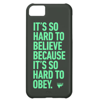 Para creer difícilmente porque es duro obedecer ci funda para iPhone 5C