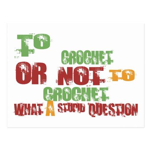 Para Crochet Tarjeta Postal