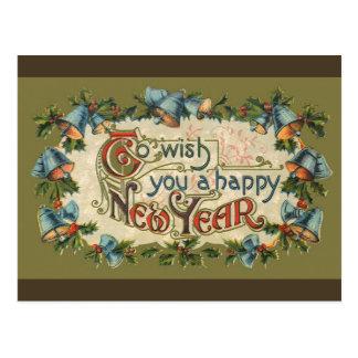 Para desearle una Feliz Año Nuevo Postal