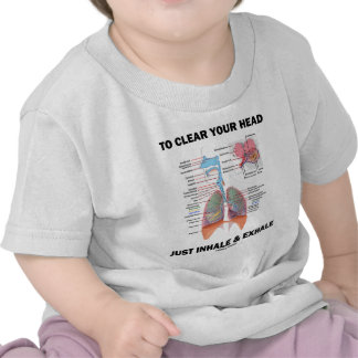 Para despejar su cabeza apenas inhale y exhale camiseta
