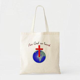 Para dios amado tan bolsa tela barata