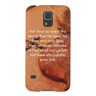 Para dios amado tan el 3:16 de Juan   del mundo… Carcasa De Galaxy S5