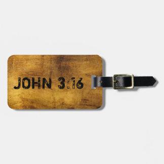 Para dios amado tan el 3 16 de Juan del mundo… Etiquetas De Equipaje
