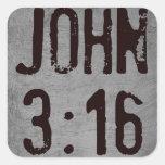 Para dios amado tan el 3:16 de Juan del mundo… Colcomanias Cuadradases