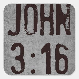 Para dios amado tan el 3 16 de Juan del mundo… Colcomanias Cuadradases