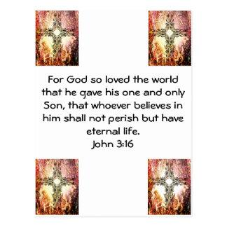 Para dios amado tan el 3:16 de Juan   del mundo… Postal