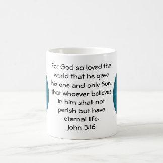 Para dios amado tan el 3:16 de Juan   del mundo… Taza Clásica