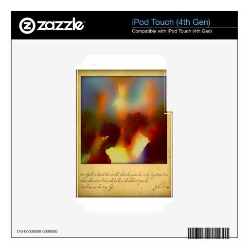 Para dios amado tan ..... calcomanías para iPod touch 4G