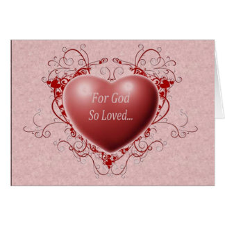 Para dios amado tan tarjeta de felicitación