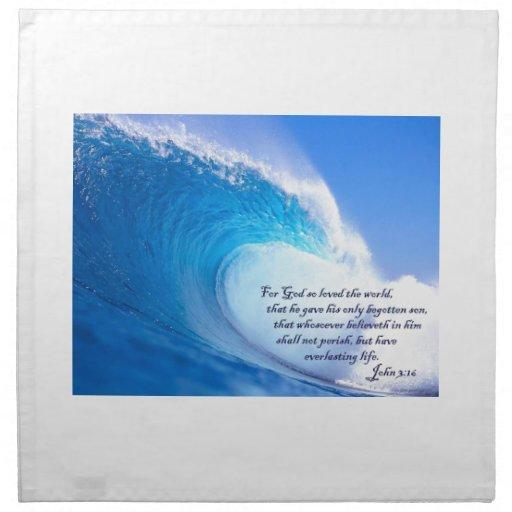 Para dios así que las olas oceánicas amadas del 3: servilleta