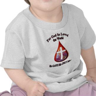 Para dios tan amado el mundo camisetas