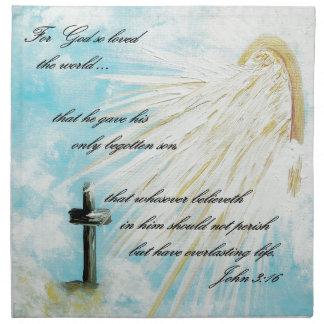 Para dios tan amado el mundo servilleta