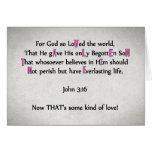Para dios tan amado el mundo - tarjeta