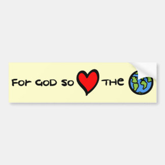 Para dios tan amado el sticke de parachoques crist etiqueta de parachoque
