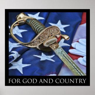 Para DIOS y el poster del país