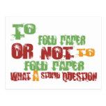 Para doblar el papel postales