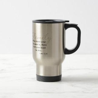 Para donde está cita su tesoro de la familia tazas de café