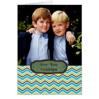 para el abuelo el día de padres tarjeta de felicitación