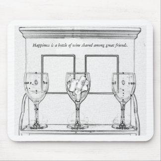 Para el amante del vino alfombrillas de ratones