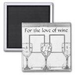 Para el amante del vino iman para frigorífico