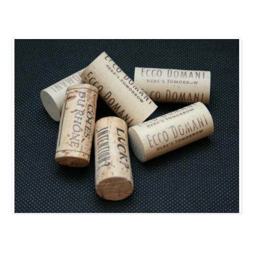 Para el amante del vino tarjetas postales