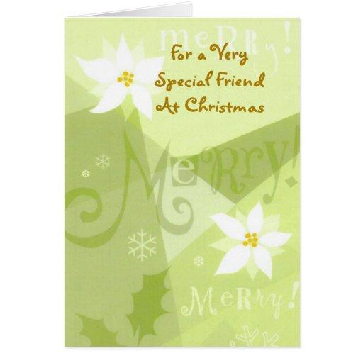 Para el amigo muy especial de A en el navidad Tarjeton
