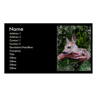 Para el amor de animales tarjetas de visita