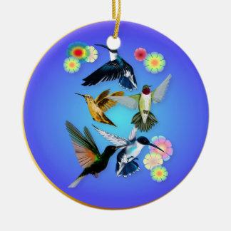 Para el amor de colibríes ornamento para arbol de navidad