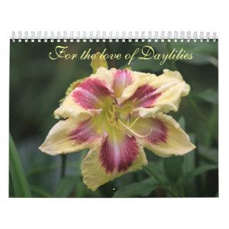Para el amor de Daylilies Calendarios De Pared