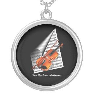 Para el amor de la música colgante redondo