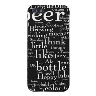 Para el amor de la nube de la palabra de la cervez iPhone 5 carcasa