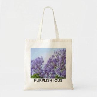 Para el amor de la púrpura bolsa de mano