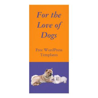 Para el amor de la tarjeta del estante de los perr tarjetas publicitarias a todo color