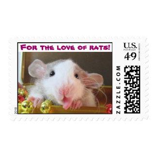 ¡Para el amor de ratas! Timbres Postales