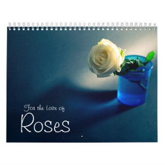 Para el amor de rosas calendarios de pared