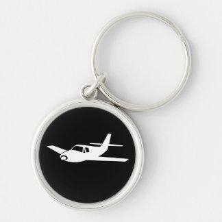 Para el amor de volar llavero plano simple