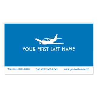 Para el amor de volar tarjetas azules del símbolo tarjetas de visita