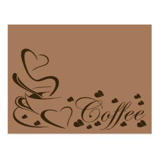 Para el amor del adicto a cafeína del café tarjetas postales