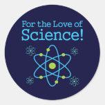 Para el amor del átomo de la ciencia etiquetas redondas