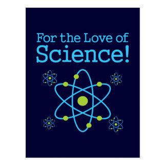 Para el amor del átomo de la ciencia tarjeta postal