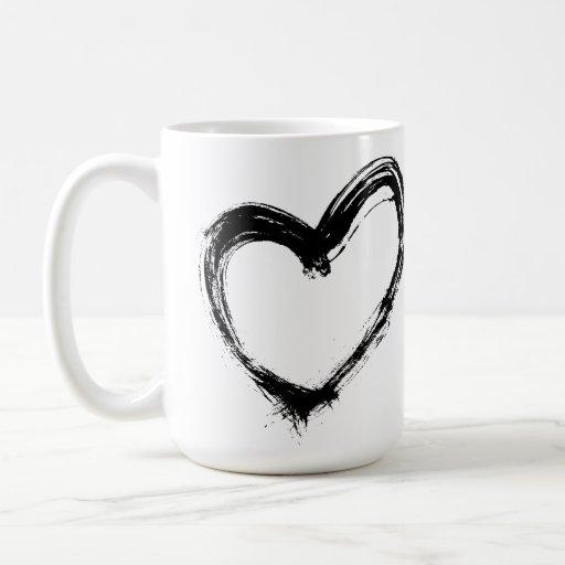 Para el amor del Brew - tinta del diseño de la Taza Básica Blanca