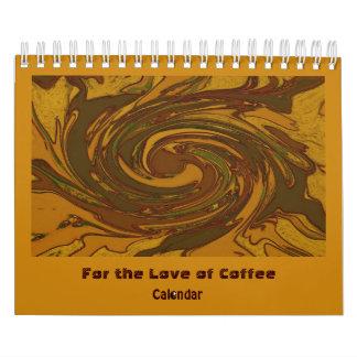 para el amor del café calendarios de pared