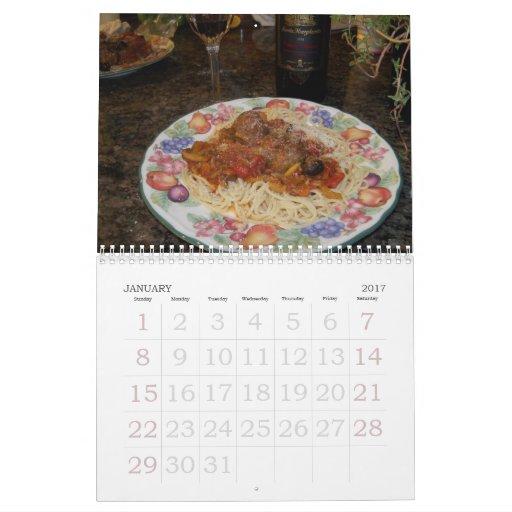 Para el amor del calendario de la comida