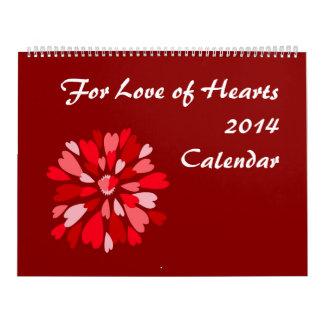 Para el amor del calendario de los corazones 2014